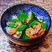 Dinner ~ I made Thai green curry of @ocean_mama_seafood @organicshrimp with Thai green eggplants, chilis, Thai basil & love :heart:️:kissing_heart::herb: . . . #oceanwise #organicshrimp #homecooking #instafood #eeeeeats #thaifood #thaicurry #omnomnom #che