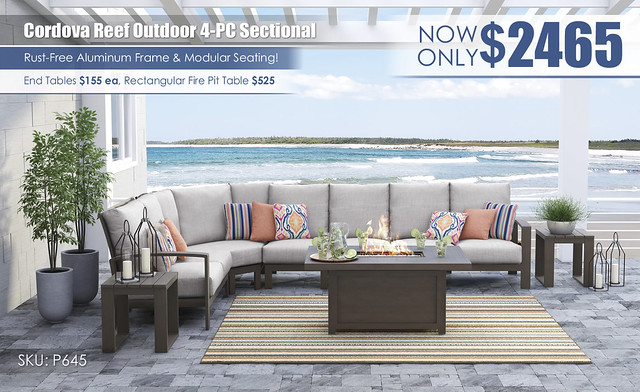Cordova Outdoor 4-PC Sectional_P645