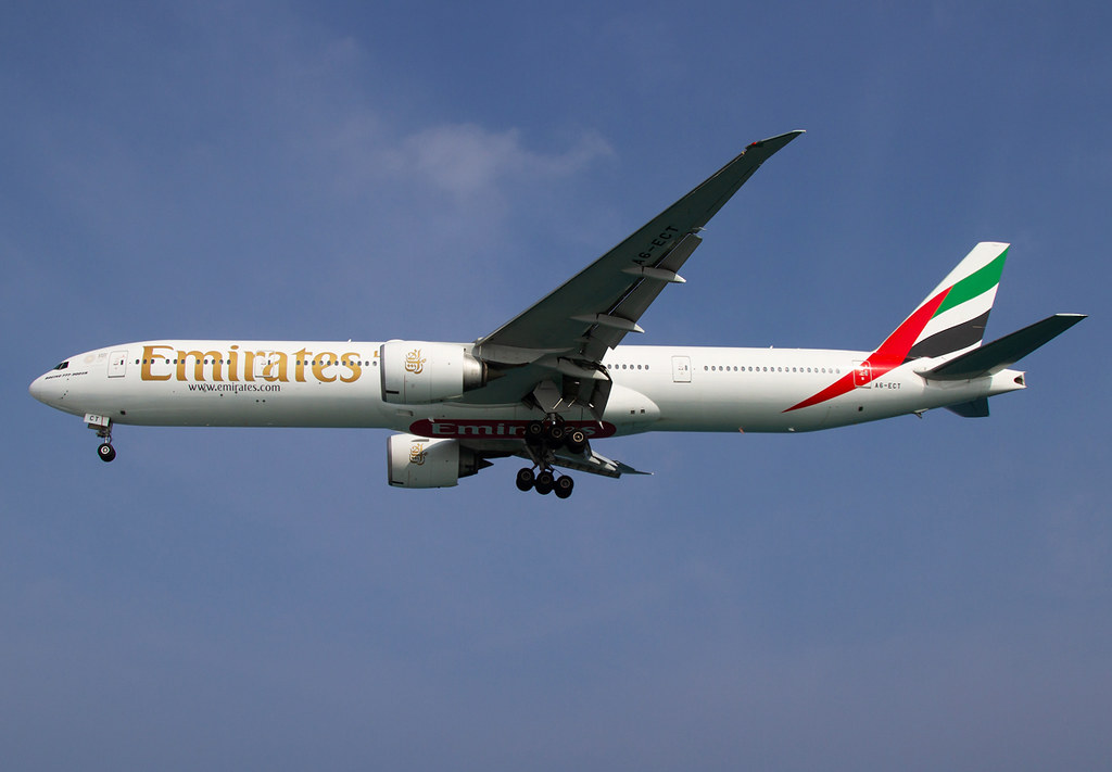 Short final for RWY36 inbound from Dubai DXB. Delivered 08/2009.