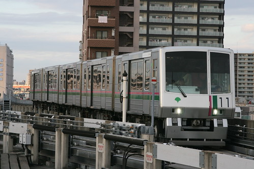 Toei 300 series in Kumanomae.Sta, Arakawa, Tokyo, Japan /November 24, 2018