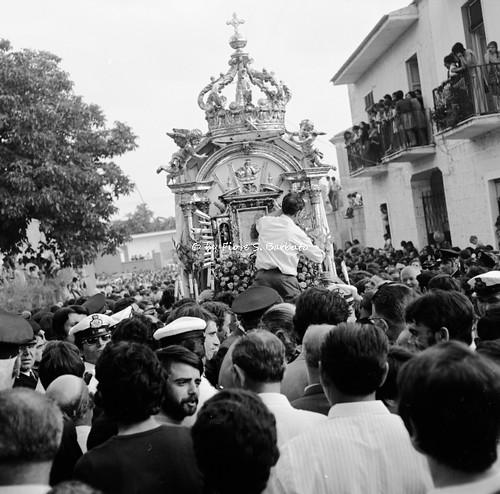 Casaluce (CE), 1972, Festeggiamenti per la traslazione del quadro della Madonna da Aversa a  Casaluce.