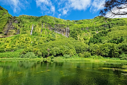 Waterfalls in Azores Islands