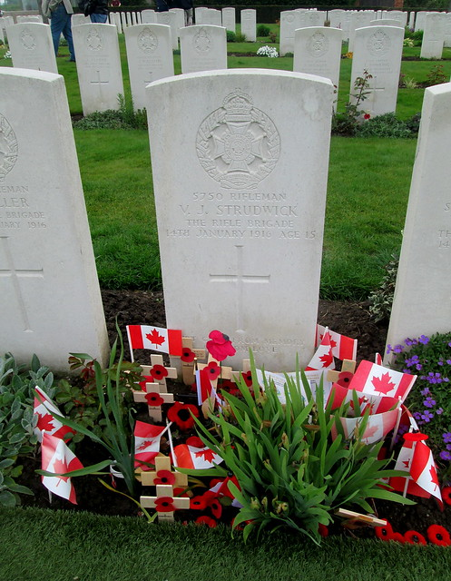 Youngest Casualty, Essex Farm Cemetery, Ypres