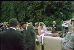 Found Photos - Village Wedding - Bride in the Wedding Car