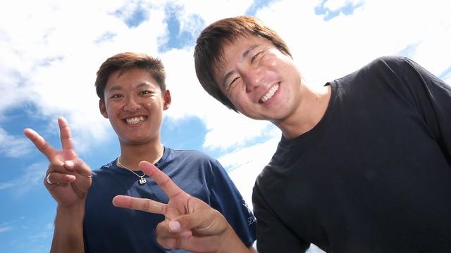 お世話になった加藤さん(右)とGo君(左)