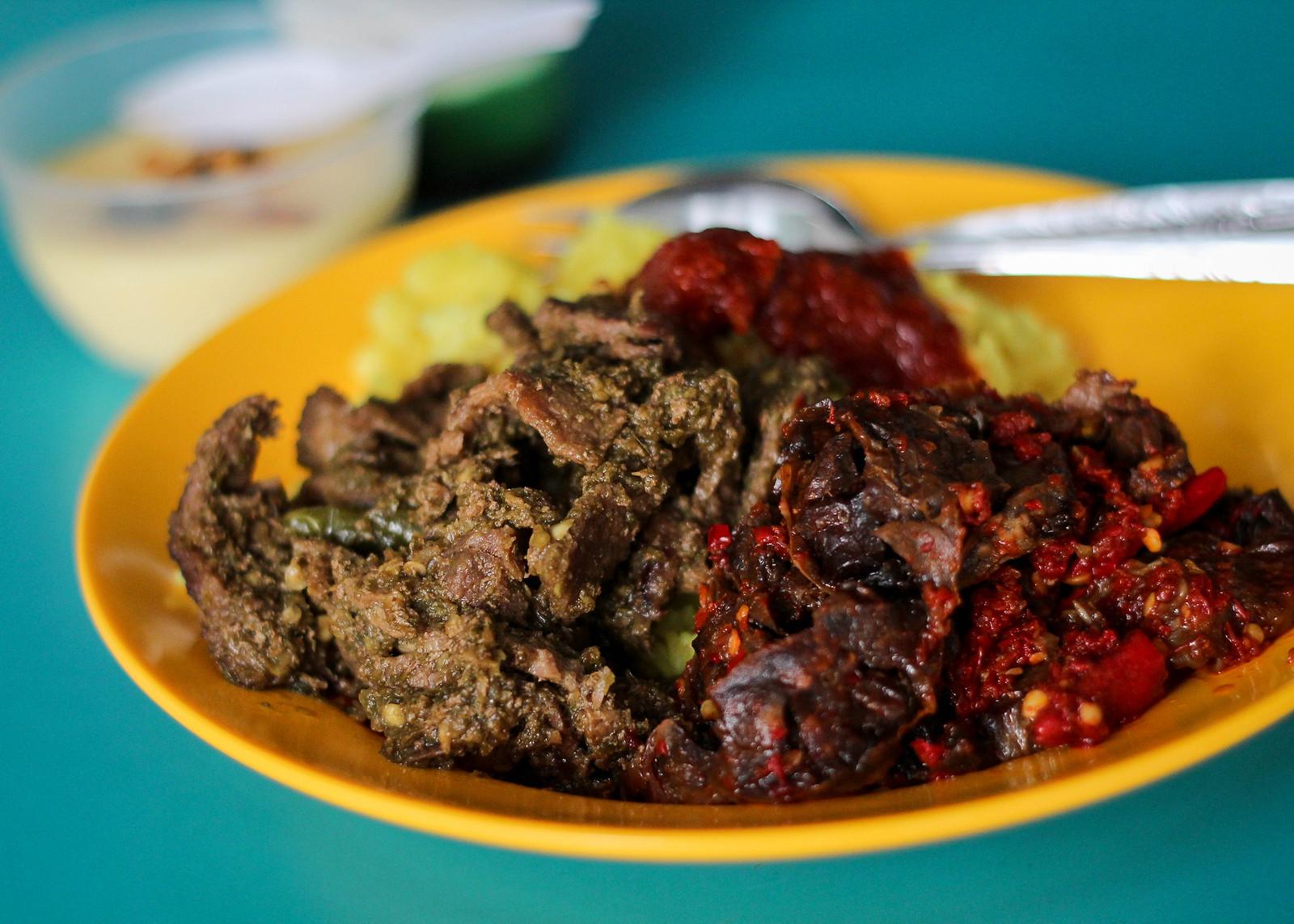 Lemaq Nasi Padang Beef Lungs Close Up