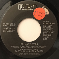 DARRYL HALL & JOHN OATES:PRIVATE EYES(LABEL SIDE-A)