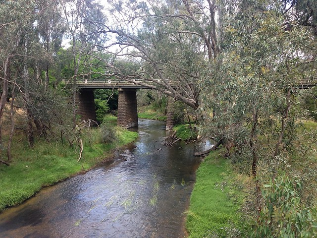 Road bridge across Campaspe River, Axedale