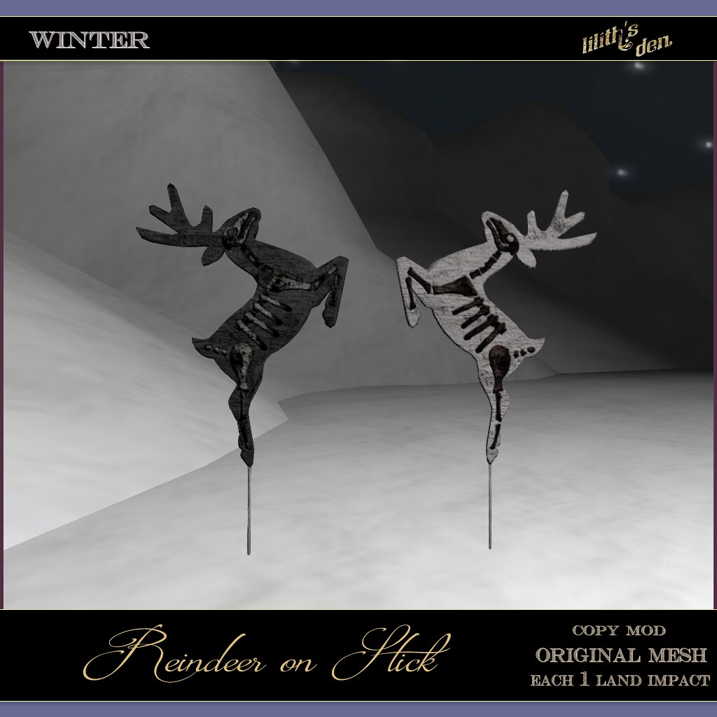 Lilith's Den –  Reindeer on Stick