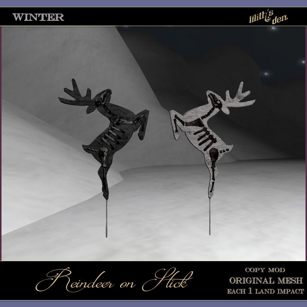 Lilith's Den -  Reindeer on Stick - TeleportHub.com Live!