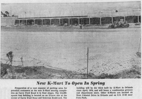 Semoran K-mart construction blurb (September 12, 1971)