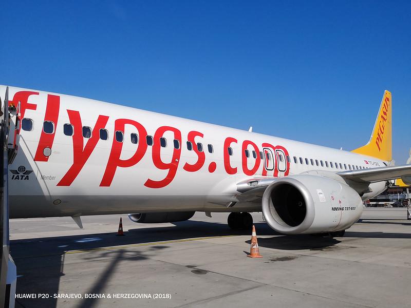 2018 Pegasus Airlines Istanbul to Sarajevo