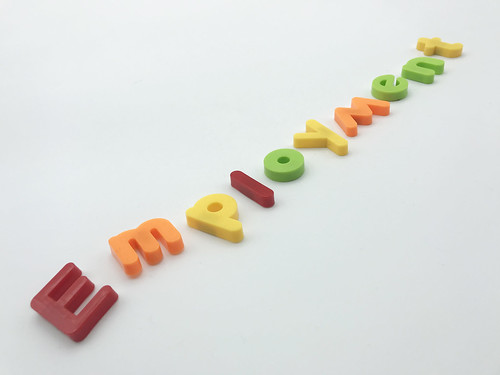 The word employment spelled out with colourful magnetic letters