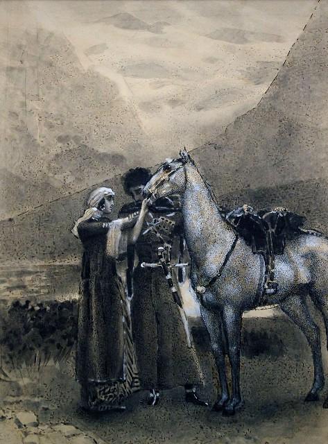 Иллюстрация к поэме «Измаил-бей»