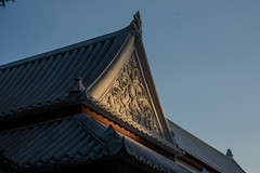 Thai style temple rooftop