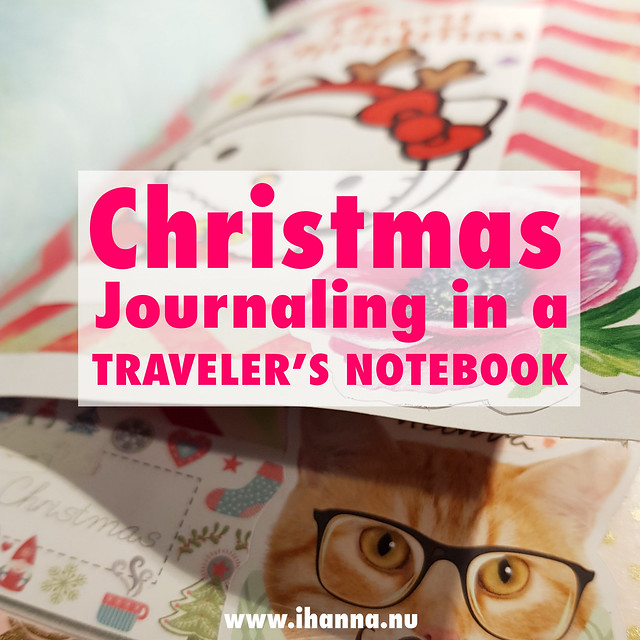 Christmas Journaling in a Traveler's Notebook