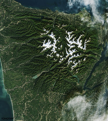 The Olympic National Park has to be one of America's most diverse national park landscapes. Original from NASA. Digitally enhanced by rawpixel.