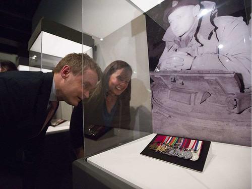 Currie Victoria Cross medal display