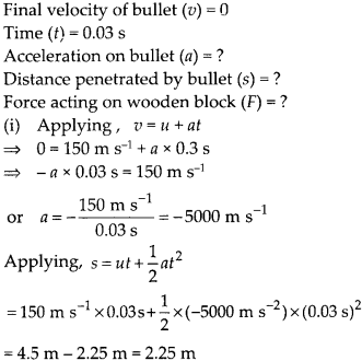 NCERT Solutions for Class 9 Science Chapter 9 Force and Laws of Motion 11