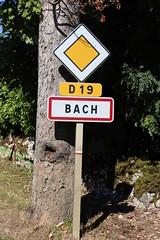 Bach - Panneau du village - Photo of Belmont-Sainte-Foi