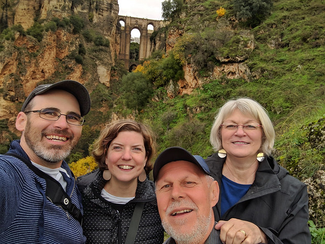 the fam below the Puente Nuevo