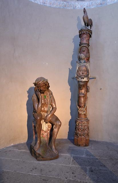 Braunschweig, Niedersachsen, Dom, south transept, man of sorrows & passion pillar