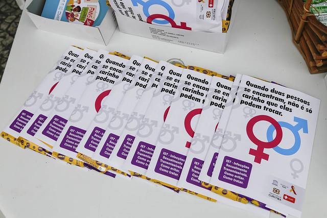 Materiais informativos sobre a Aids fazem parte de campanha de prevenção à doença - Créditos: Foto: Pedro Ribas/SMCS