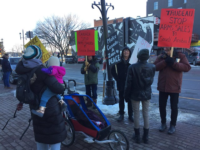 ECAWAR Picket, Dec. 15, 2018