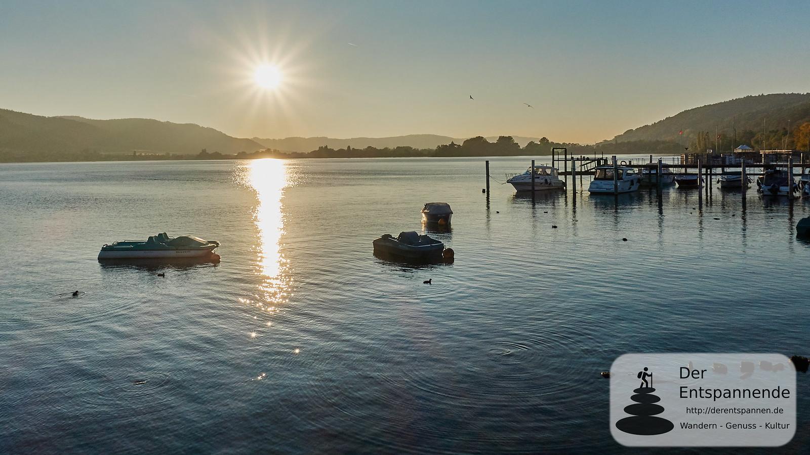 Sonnenuntergang im Hafen von Ludwigshafen