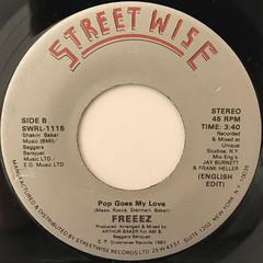 FREEEZ:POP GOES MY LOVE(LABEL SIDE-B)