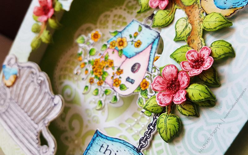 Cherry Blossom Box Card 7_Nupur Creatives