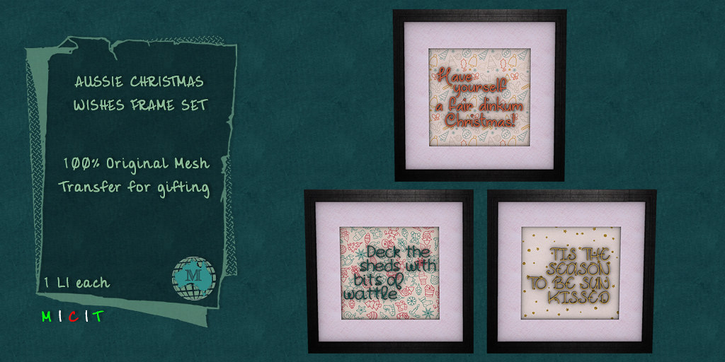 Macca – Aussie Christmas Wishes Frame Set