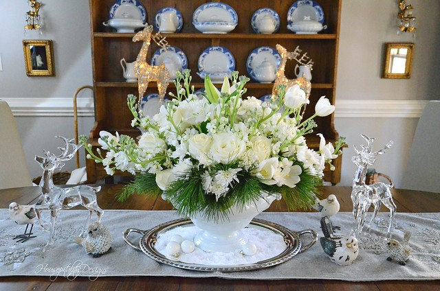 White Christmas Centerpiece-Housepitality Designs-2