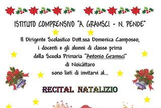 Noicattaro. recital pende front