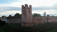 Our breakfast view from Hotal Roma in Castelfranco