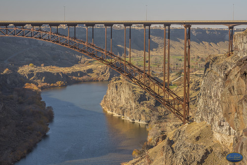 bridge mountain perrinebridge idaho twinfalls sky train water river snakeriver landscape structure architecture