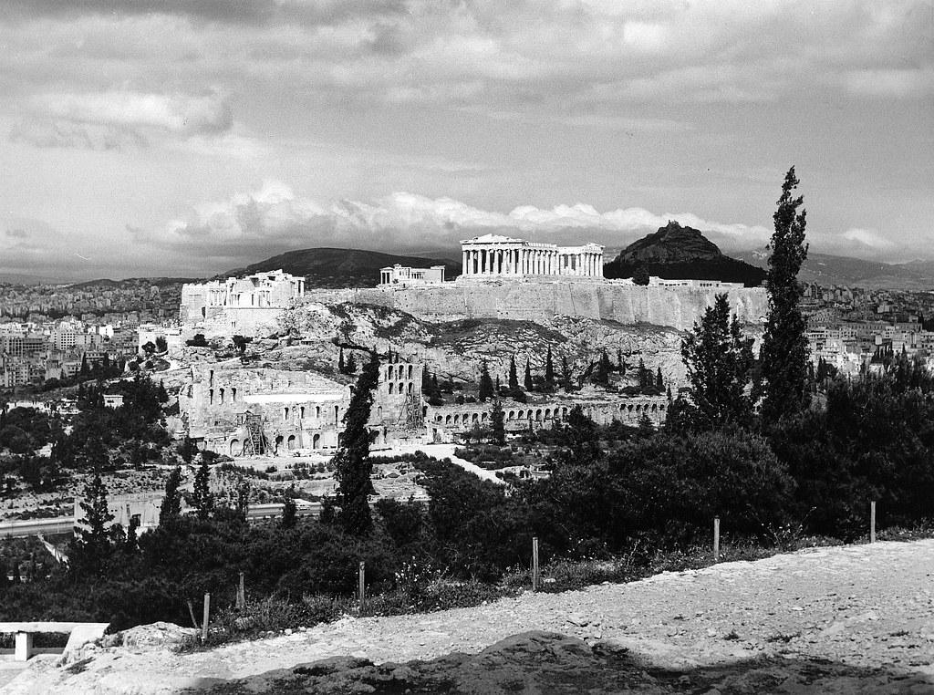 Греческие древности. Часть 38. 1963. Афины на снимках Лалы Ауфсберг