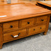 Solid pine coffee table with drawers E100
