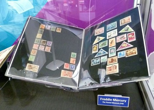Freddie Mercury's stamp collection.