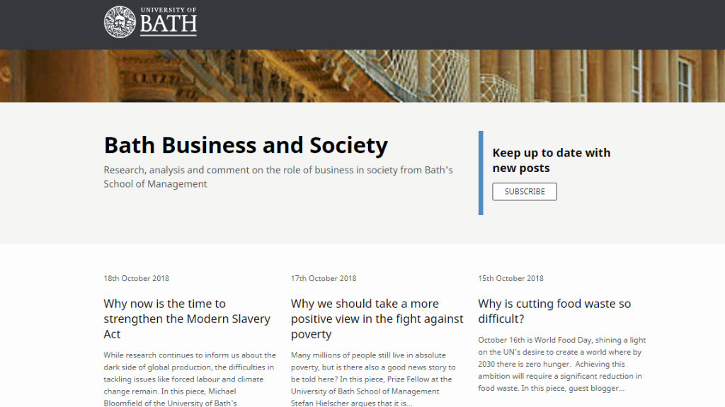 Business and Society Blog homepage