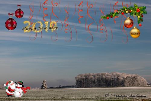 Carte voeux Nouvel An 2019