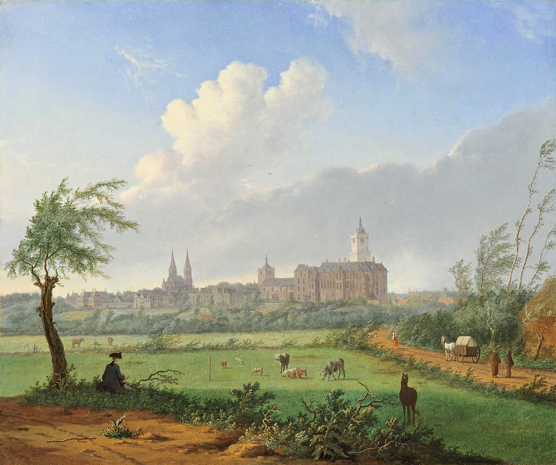 Jan ten Compe - View of Cleves and View of The Hague from the Northwest