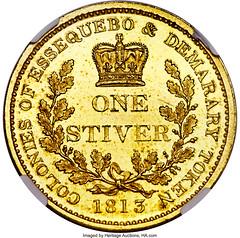 1813 Essequibo Demerary British Colony Stiver reverse