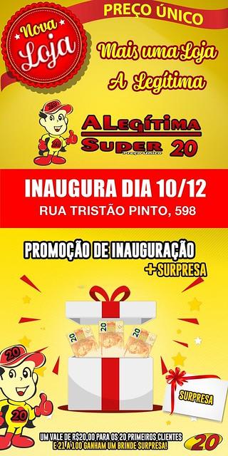 Inaugura no próximo dia 10 de dezembro, em São Gabriel, A Legítima Super 20