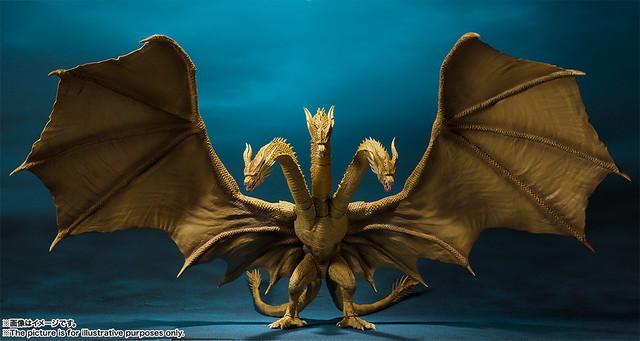 再現巨大尺寸與霸氣造型!S.H.MonsterArts《哥吉拉2:怪獸之王》王者基多拉(2019)|キングギドラ(2019)