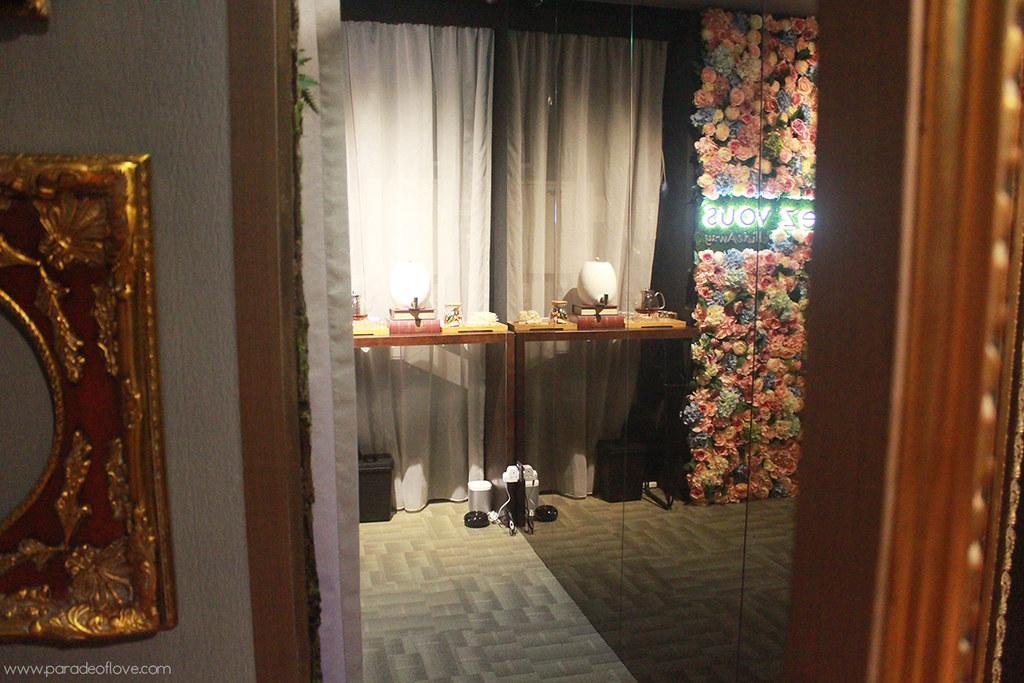 Entering a floral sanctuary at Chez Vous:HideAway
