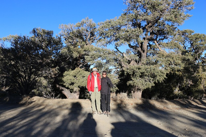 Vicki and I pose for a photo as we get ready to start hiking on the Telescope Peak Trail