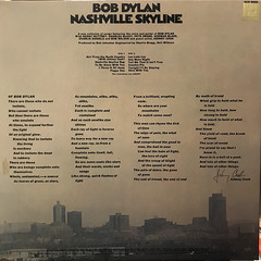 BOB DYLAN:NASHVILLE SKYLINE(JACKET B)