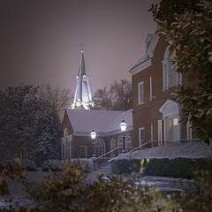 Snowy Night in Annapolis