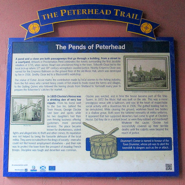 Peterhead Trail Plaque